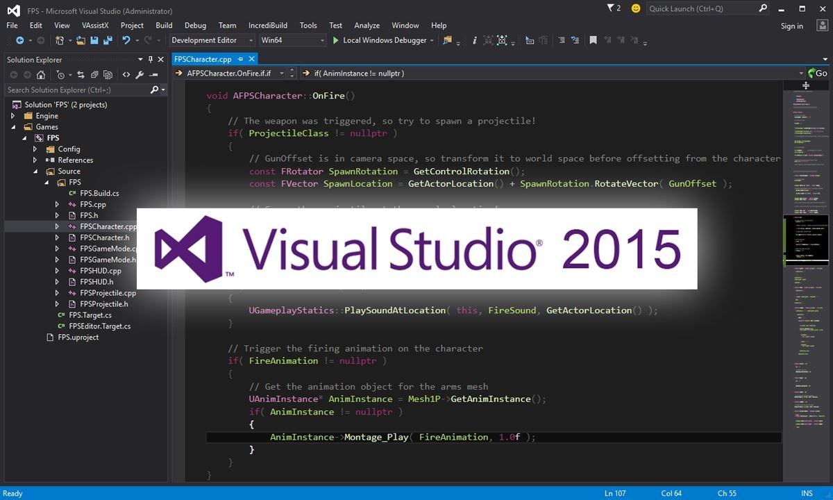 Phiên bản Visual Studio 2015