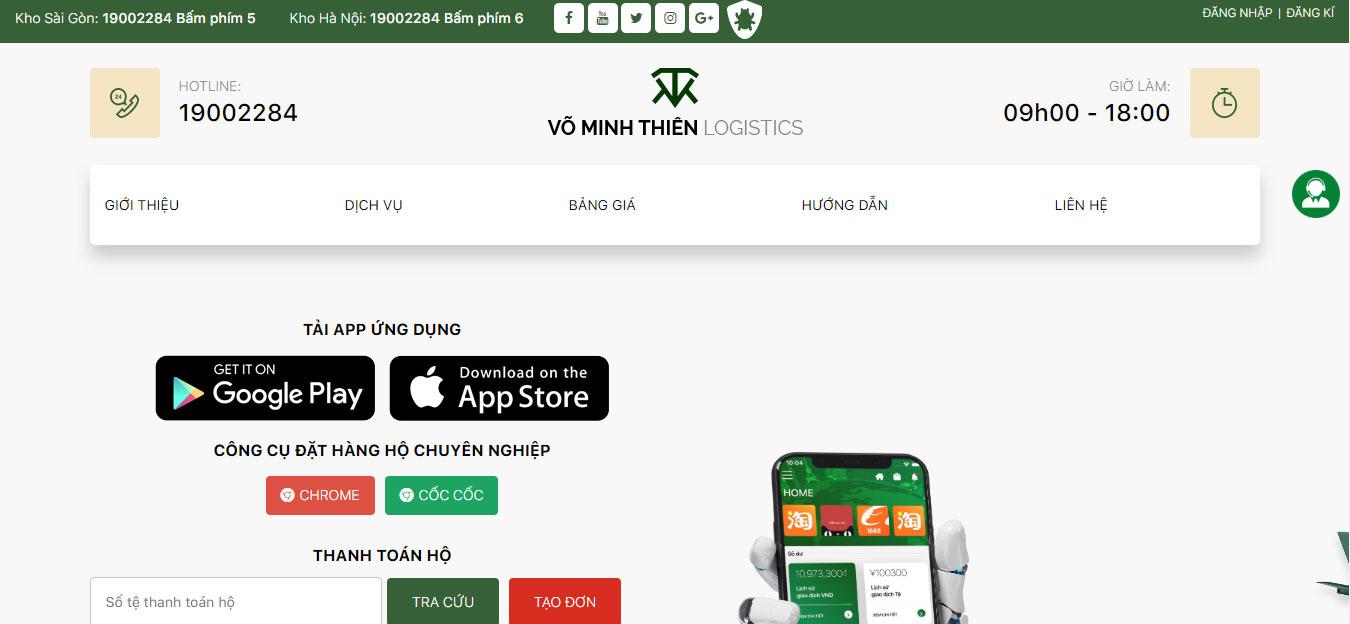 Web - app nhập hàng Trung Quốc.
