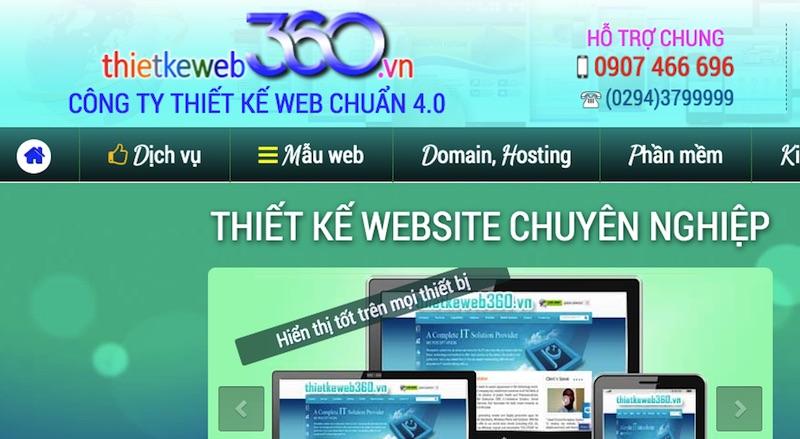 Thiết kế web 360 Cần thơ