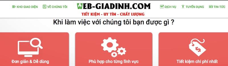 Web-giadinh đơn vị thiết kế website chuyên nghiệp tại Cần Thơ