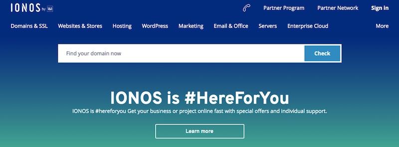 Mua tên miền tại IONOS 1&1