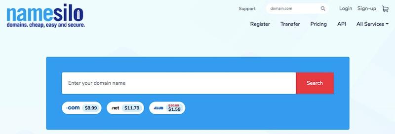 Namesilo - đăng ký tên miền giá rẻ