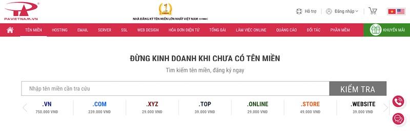 Mua tên miền tại PA Việt Nam