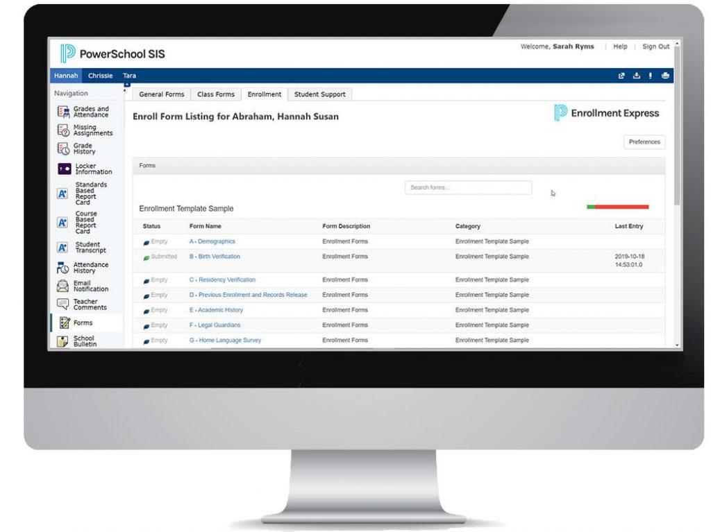 Phần mềm tuyển sinh PowerSchool Enrollment