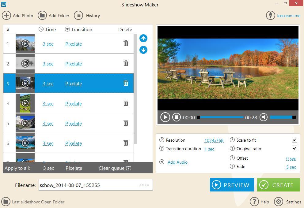 Icecream Slideshow Maker: Phần mềm làm clip trên máy tính chất lượng
