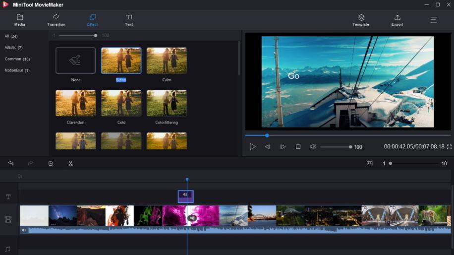 MiniTool Movie Maker: Phần mềm làm video miễn phí chất lương
