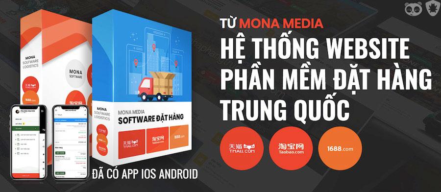Hệ thống web app đặt hàng Trung Quốc từ Mona Media.