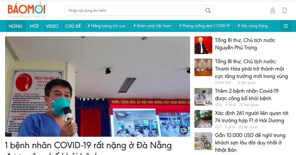Trang tin tức điện tử tổng hợp