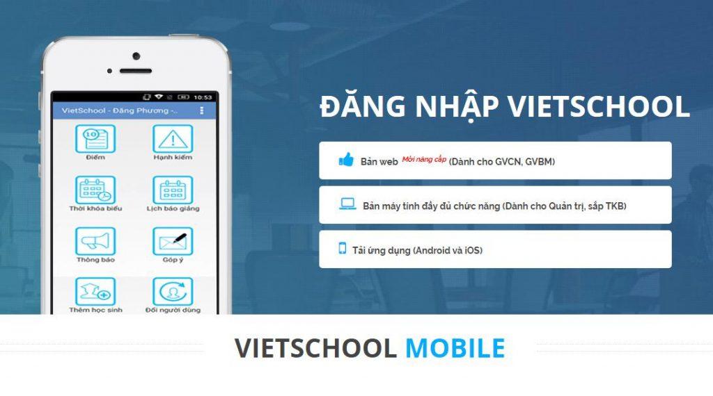 phần mềm quản lý điểm VietSchool
