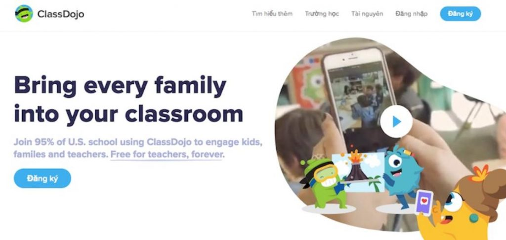 Phần mềm lớp học Class Dojo