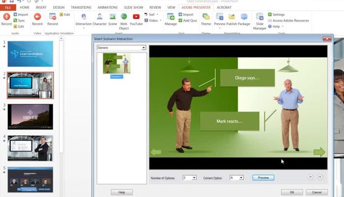 Phần mềm thiết kế bài giảng E-learningAdobe Presenter