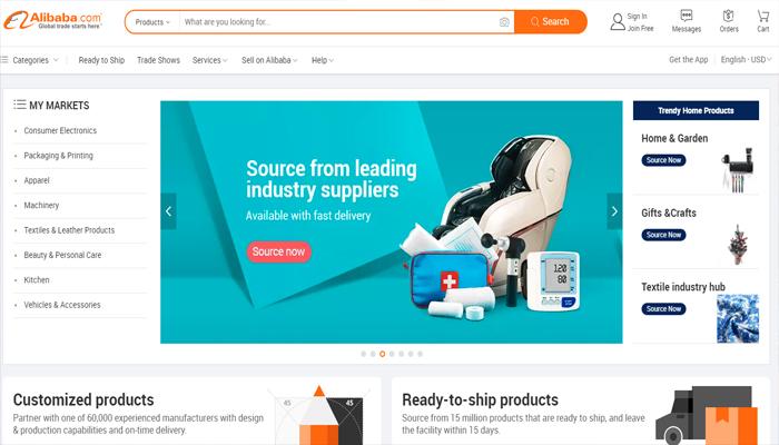 Trang web nhập hàng Quảng Châu - Alibaba.com