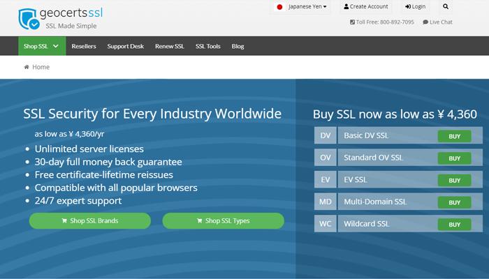 Nhà cung cấp chứng chỉ DV, OV, EV SSL - Geocerts SSL